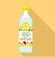 6 percent vinegar icon flat style vector image vector image