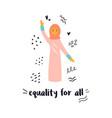 a protesting muslim woman vector image vector image