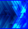 abstract blue tech diagonal geometric background vector image vector image