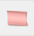 abstract pink realistic paper banner valentines vector image