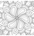 adult coloring bookpage a floral abstract vector image