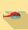 ambulance helicopter icon flat style vector image