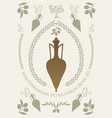 ancient greek or roman amphoras and olive oil vector image