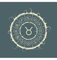 Astrology symbols in circle Bull sign vector image vector image