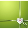 Background with paper heart and flower vector image