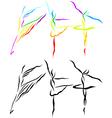 ballet line art vector image