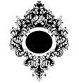 baroque ornamented mirror frame victorian vector image vector image