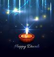 Beautiful artistic background of diwali vector image vector image