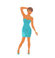 beautiful girl dancing isolated vector image vector image