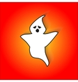 Bored ghost scares in for Halloween vector image