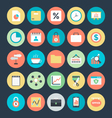 Business Colored Icons 6 vector image
