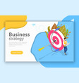 business strategy isometric flat conceptual vector image vector image