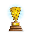 cheese trophy cartoon vector image vector image