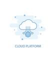 cloud platform line concept simple line icon vector image vector image