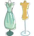 drawn colored dress form vector image vector image