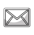 envelope mail flat icon vector image