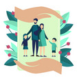 family insurance metaphor vector image