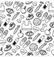 Fitness seamless pattern vector image vector image