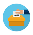 Flat voting icon vector image vector image