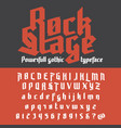 fresh new powerfull gothic typeface - rock stage vector image vector image