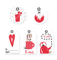 gift christmas and happy new year tags vector image vector image