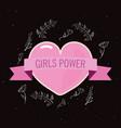 girls power card vector image