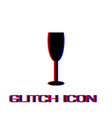 goblet icon flat vector image vector image