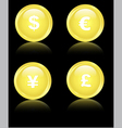 golden financial icons vector image