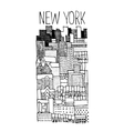 Hand drawn of New York panoramic vector image