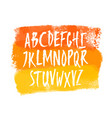 hand drawn uppercase letters on watercolor vector image vector image