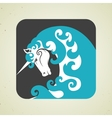 Icon of magic mythical unicorn with a horn vector image vector image