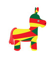 isolated colored pinata icon vector image vector image