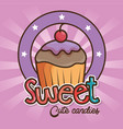 kawaii sweets and candies cartoon vector image