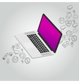 laptop notebook function icon vector image