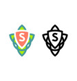 modern design celtic logo for any nature eco vector image vector image