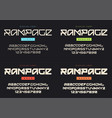 modern display font named rampage light vector image vector image