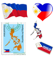 national colours of Philippines vector image vector image