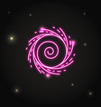neon black hole icon in thin line style vector image