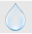 realistic blue water drop vector image vector image