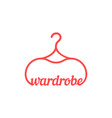 red vintage wardrobe icon vector image vector image