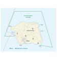 road map italian island linosa vector image vector image