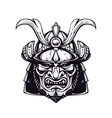 samurai mask 4 vector image vector image