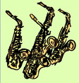 saxophones vector image vector image