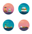 sea transportation logistic sea freight maritime vector image