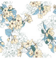 seamless pattern with apple blossoms vector image vector image