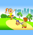 seesaw vector image vector image