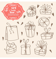 set of gift boxes vector image vector image
