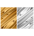 set silver and gold foil textures metallic vector image vector image