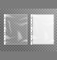 sheet plastic protector clear folder file vector image