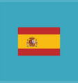 spain flag icon in flat design vector image vector image